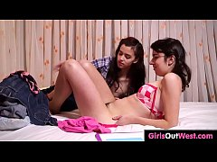Lovely hairy lesbians enjoy tribbing and cunnilingus