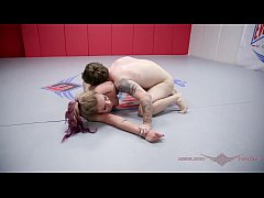 Tori Avano nude wrestling against a guy winner fucks loser