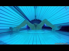 Hidden Spy Cam in Public Tanning Bed