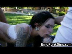 emo punk teen fucked rough by 2 cocks