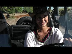 En Evissa Sex at the wrangler jeep - Little Caprice
