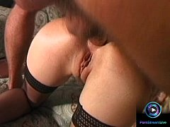Sexy blonde Montoya getting fingered and drilled on her ass