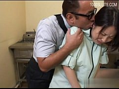 Young girl deepthroat gag