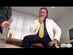 BUMS BUERO - German brunette babe Lullu Gun gets banged by boss in the office