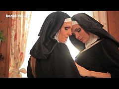 Beautiful catholic nuns in the spiritual sexual embrace