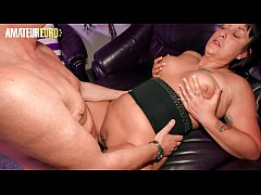 AMATEUR EURO - European Amateur Brunette Kim Schmidts Rides Neighbor Cock On The Living Room