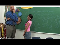 Teen Bounces On Her Teacher's Hard Cock!