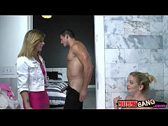 Stepmom Cherie Deville threesome session with Kelly Greene