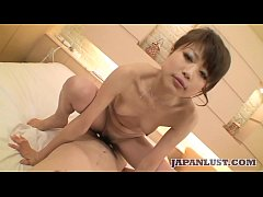 Arousing Japanese cougar cheats on her husband and gets creampie
