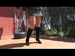 Granny SpicyHoneyMilf  in boots and nylons