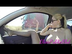 Naked in public and sex for truckers on the highway | ElisaPublicSlut.com