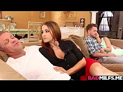Horny milf Raquel and gf Renelope 3some with hot bf