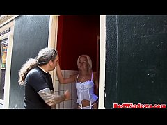 Blonde dutch hooker doggystyle before jerking