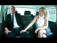 FUCKED IN TRAFFIC - Big ass blonde Barbara Nova rides horny driver
