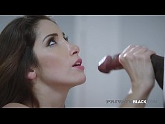 French Babe Clea Gaultier is pounded by a black stud who rams her pussy before moving to her little butthole!