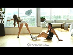 FantasyHD - August Ames sits on her mans face and dick