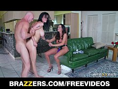 Ariella Ferrera and Shay Sights take turns riding a big-cock