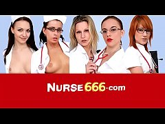 Vagina speculum self-exam with sexy nurse Elis Diamond