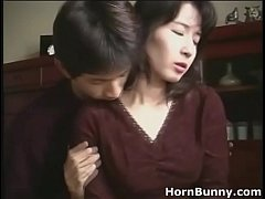 HD Japanese mom and son home alone
