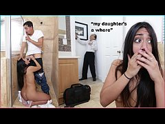 DON'T FUCK MY DAUGHTER - Teen Lexie Banderas Gets Her Pipes Cleaned By Plumber