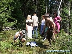 Group mountain fuck action sex