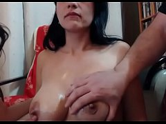 Bestfriend and husband live sex show threesome for fun