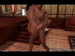 Yummy 3D cartoon ebony honey getting fuck ...