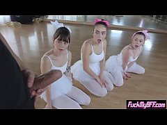 Flexible ballerina teens smashed by a new perv instructor