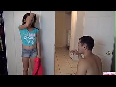 Good looking sister got down and dirty with her stepbrother, alone home