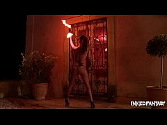 Inked & Hot As Fuck While Playing With The Flames Until Daniela Cums