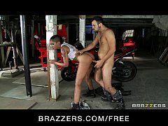 HD Sexy Asian mechanic Skin diamond rides big hard dick as payment