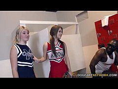 Cheerleader Jojo Kiss and Zelda Morrison tries BBC