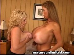 Huge Busty mature duo ...