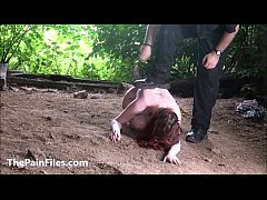 Crawling Saschas bizarre humiliation and outdoor domination of kinky amateur bds