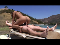 Intense sex at the pool with the beautiful slut