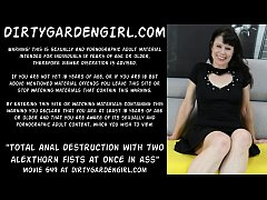 Total anal destruction with two AlexThorn fists at once in ass - Dirtygardengirl & AlexThorn
