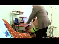 Tricky Old Teacher - Naughty hot schoolgirl gets her hard sticky lesson
