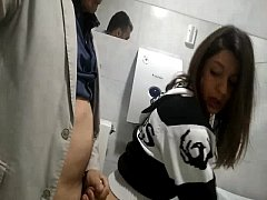 Clip sex Fucking slutty wife on a public toilet