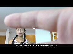 OPERACION LIMPIEZA - Colombian maid seduced and fucked hard by employer