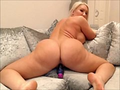 Home alone big ass milf works that ass and fills her holes