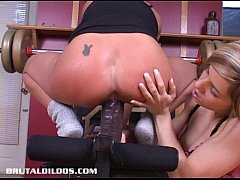 sandy fucked by big dildo