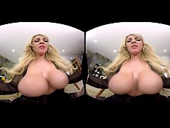 Fuck Kayla Kayden's big tits in the office - Naughty America VR