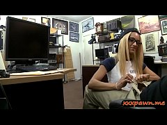 Petite blonde babe pounded by pawn dude at the pawnshop