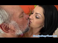 Teenager babe romantically banged by oldman