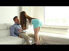 PureMature - Business woman Veronica Vain rides guys hard cock