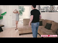 Stepsister cant get laid stepbro helps her out with his dick