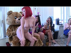 DANCINGBEAR - Big Dick Male Strippers Letting It All Hang Out At CFNM Party