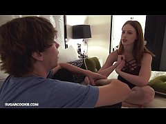 Teen Redhead Alex Harper gets a facial
