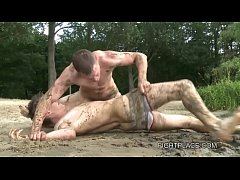Gay Wrestling on Fightplace - Beach and Boat XXX