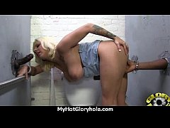 hot couple having oral sex in gloryhole interracial 29